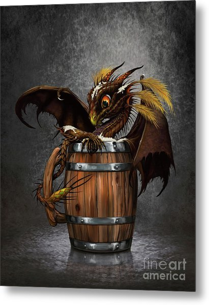 Dark Beer Dragon Metal Print