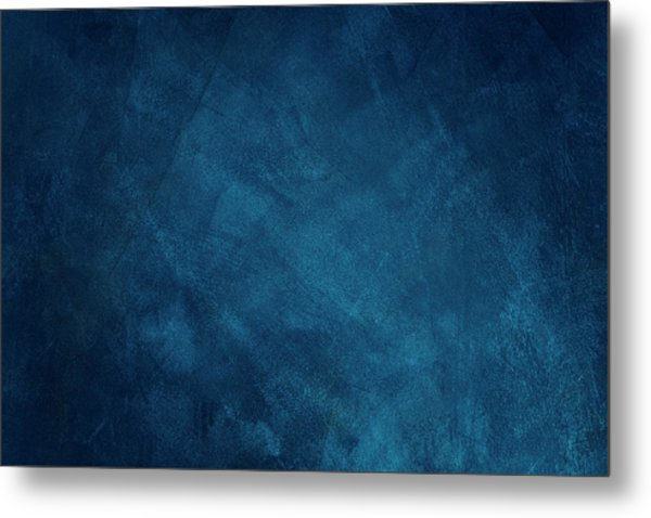 Dark Blue Grunge Background Metal Print by Caracterdesign