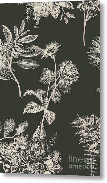 Dark Botanics  Metal Print