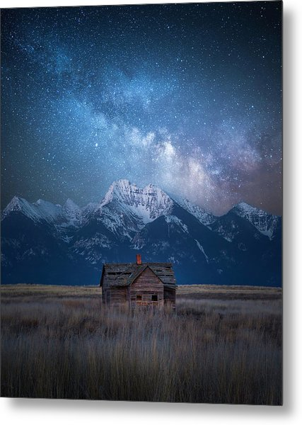 Dark Skies Last Frontier / Mission Mountains, Montana  Metal Print