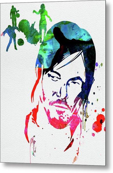 Daryl Watercolor Metal Print