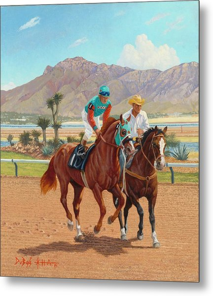Dash For Cash Metal Print