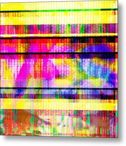 Databending #2 Hidden Messages Metal Print