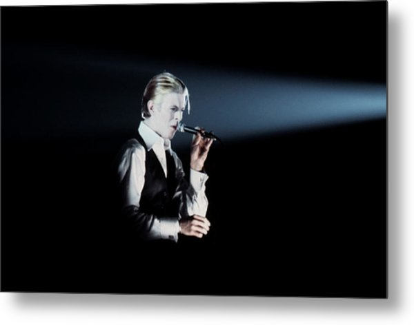 David Bowie In Detroit Metal Print