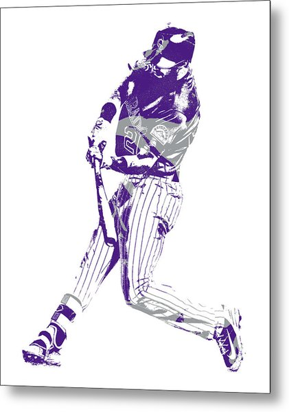 David Dahl Colorado Rockies Pixel Art  1 Metal Print