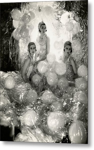 The Debutantes In Costume Metal Print by Cecil Beaton