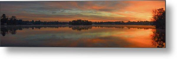 December Sunrise Over Spring Lake Metal Print