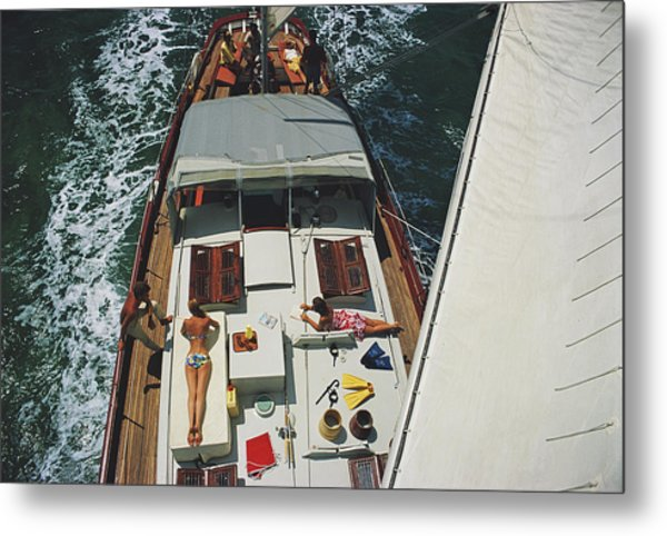 Deck Dwellers Metal Print by Slim Aarons