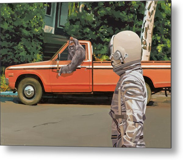 Decline Of The Planet Of The Apes Metal Print