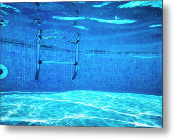Deep Of Swimming Pool Metal Print by Cinoby