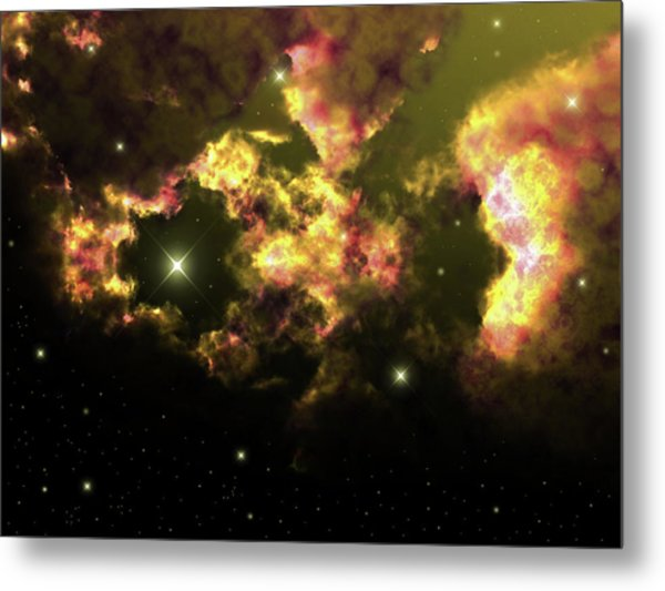 Deep Space Clouds 2 Metal Print