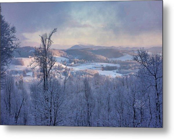 Deer Valley Winter View Metal Print