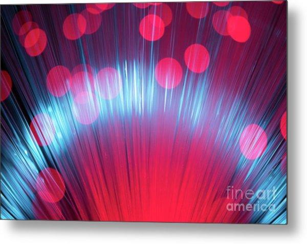 Defocused Fiber Optic Metal Print by Miragec
