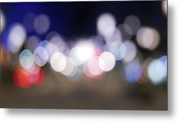 Defocused Lights At Night Metal Print by Jasmin Awad / Eyeem