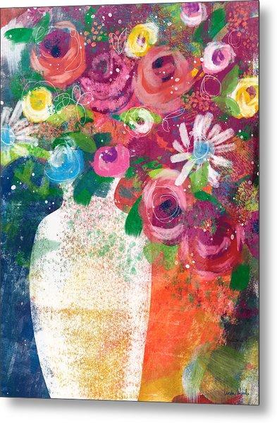 Delightful Bouquet 2- Art By Linda Woods Metal Print