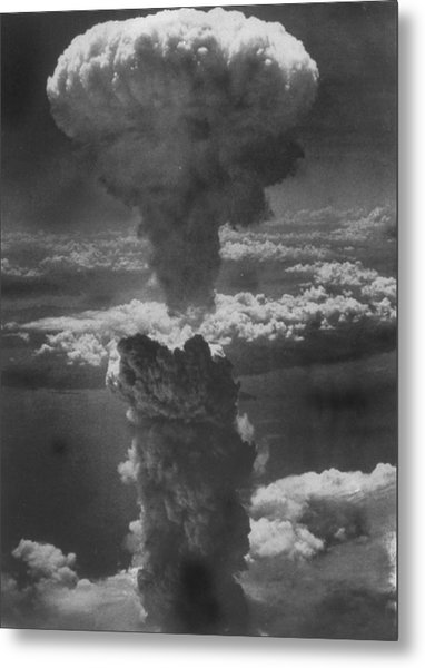 Dense Column Of Smoke Capped By Mushroom Metal Print by Time Life Pictures