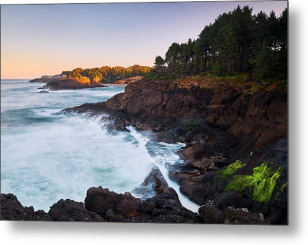 Depoe Bay Sunrise Metal Print