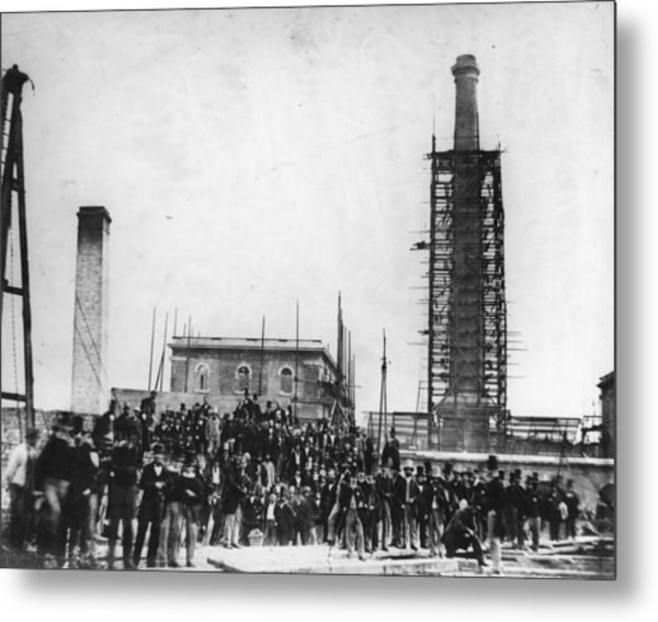 Deptford Pumping Station Metal Print by Hulton Archive