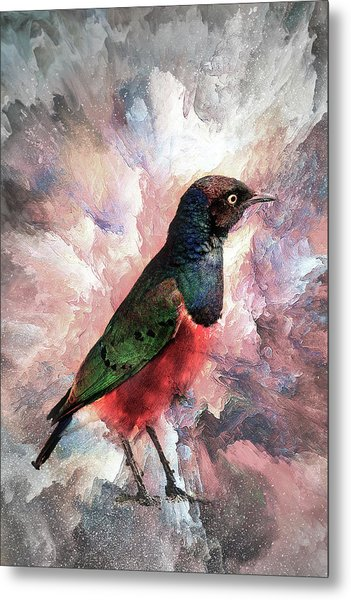 Desaturated Starling Metal Print