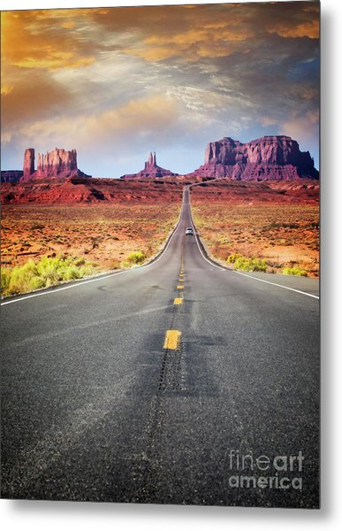 Desert Drive Metal Print