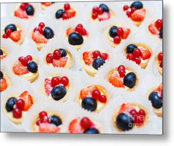 Dessert For Holiday. Fruit Tart With Metal Print