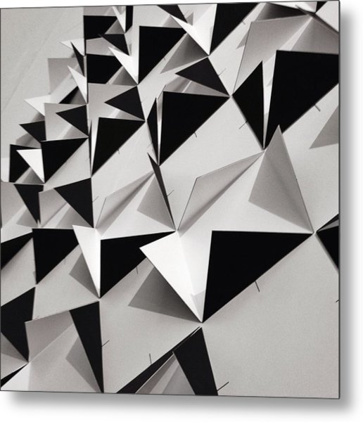 Detail Shot Of Wall With Black Folded Metal Print by David Crunelle / Eyeem