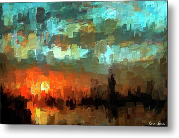 Metal Print featuring the digital art Detroit Days End by Rein Nomm