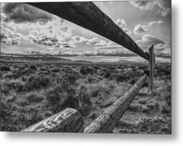 Metal Print featuring the photograph Devil's Gate Fence by Chance Kafka