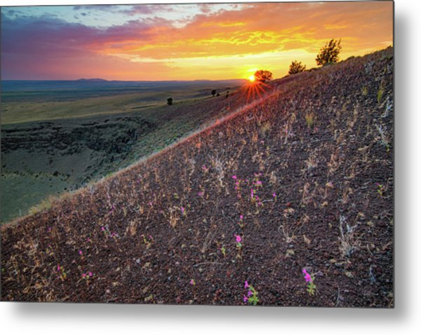 Diamond Craters Sunset Metal Print by Leland D Howard