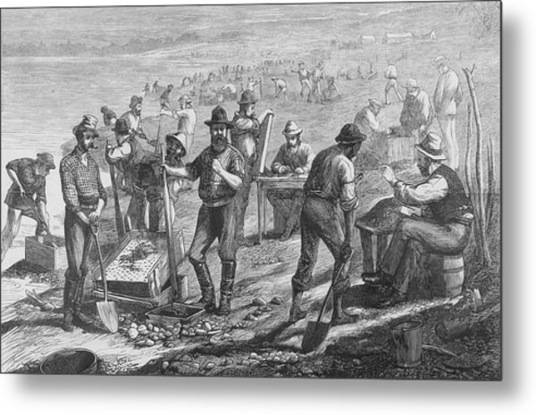 Diamond Mining Metal Print by Kean Collection
