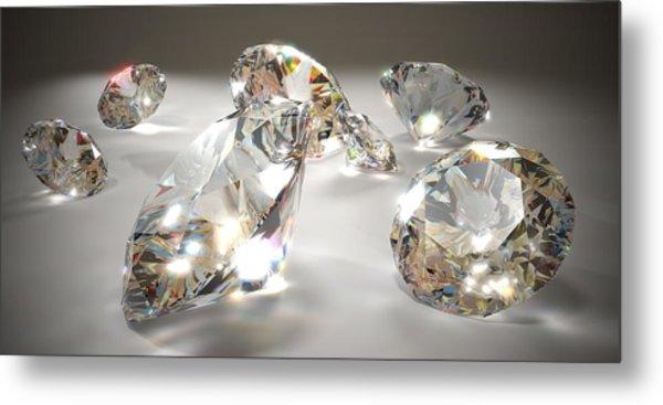 Diamonds Metal Print by Mevans
