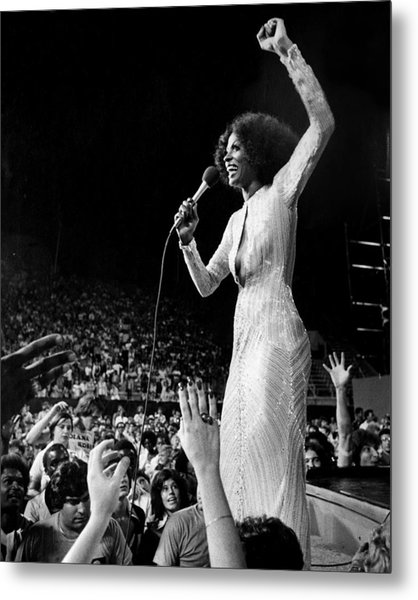 Diana Ross Hands Reach For The Stars As Metal Print