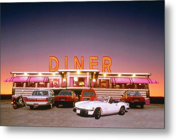 Diner At Twilight Metal Print