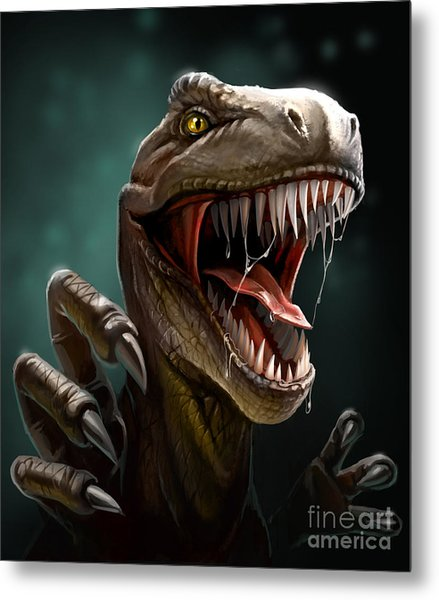 Dinosaur With Teeth And Claws, Close-up Metal Print