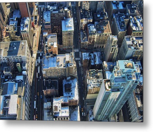 Directly Above Shot Of City Metal Print by Gavin Pugh / Eyeem