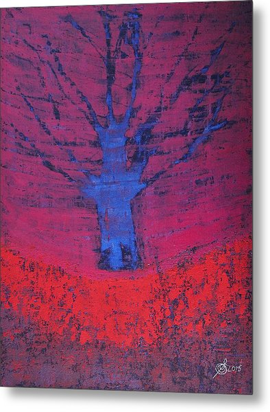 Disappearing Tree Original Painting Metal Print