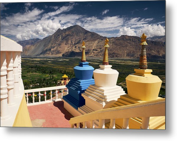 Metal Print featuring the photograph Diskit Gompa by Whitney Goodey