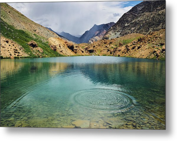Metal Print featuring the photograph Distant Rains by Whitney Goodey