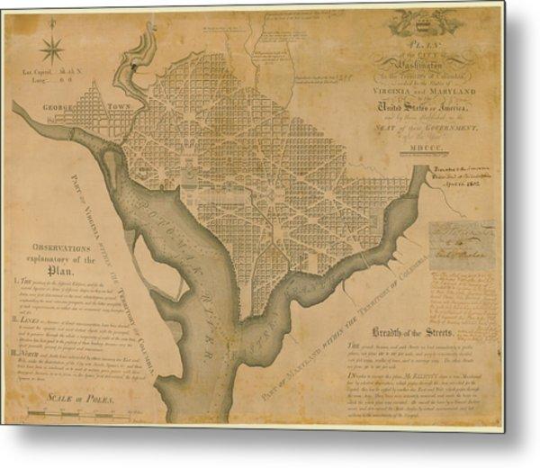 District Of Columbia 1792 Washington Metal Print