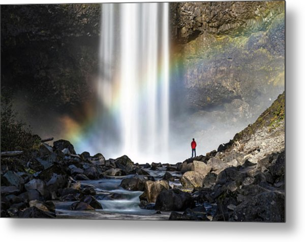 Metal Print featuring the photograph Divine Hand Shadow At Brandywine Falls by Pierre Leclerc Photography