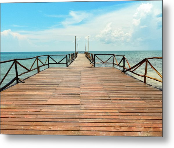 Dock To Infinity Metal Print