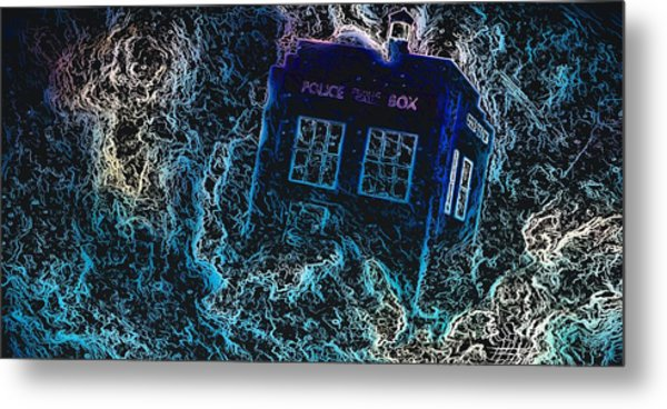 Doctor Who Tardis 3 Metal Print