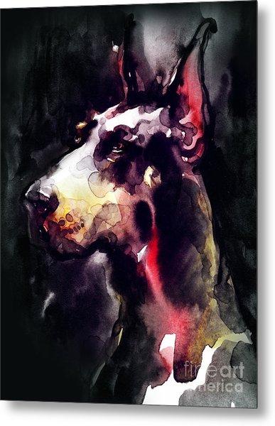 Dog  Watercolor Animal Metal Print