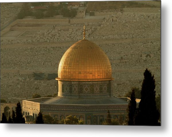 Dome Of The Rock Mosque In Jerusalem Metal Print by Picturejohn