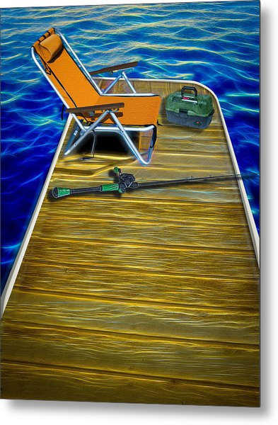Done Fishing Metal Print
