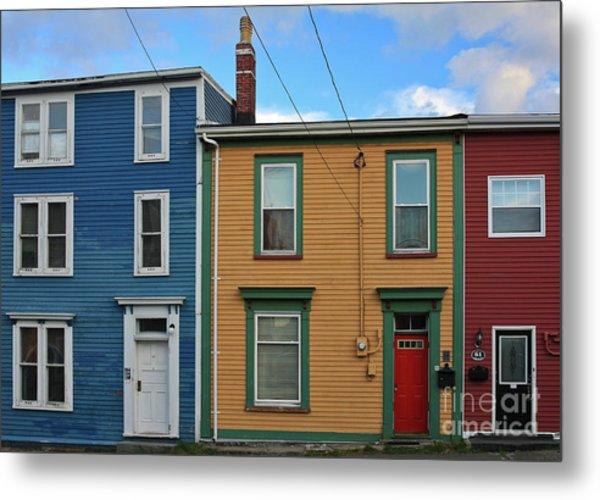 Metal Print featuring the photograph Doors And Windows In St. Johns Newfoundland by Tatiana Travelways