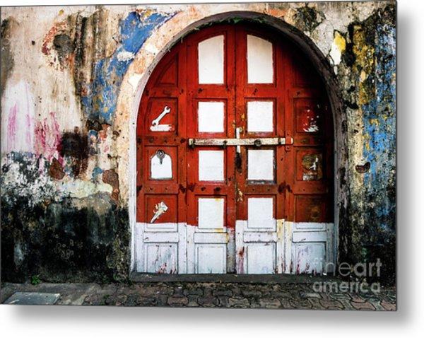 Doors Of India - Garage Door Metal Print