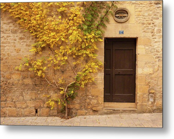 Doorway, Sarlat, France Metal Print