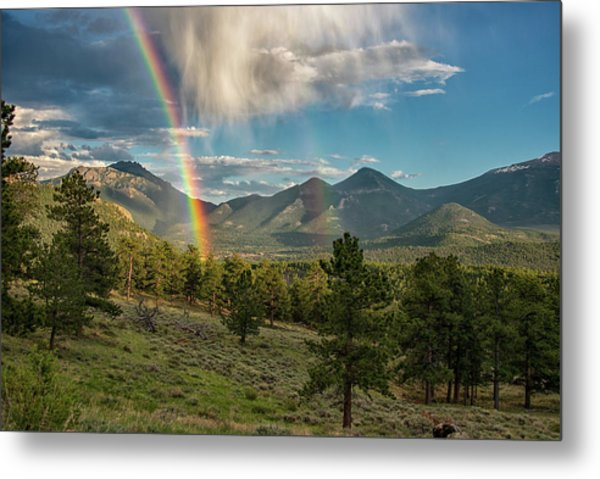 Metal Print featuring the photograph Double Rainbow by Darlene Bushue