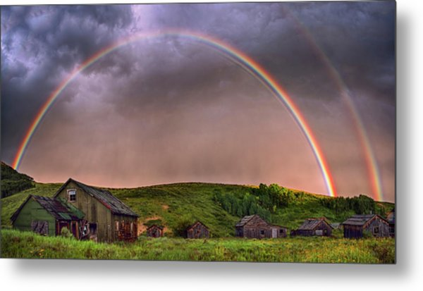Double Rainbow Rebirth Metal Print